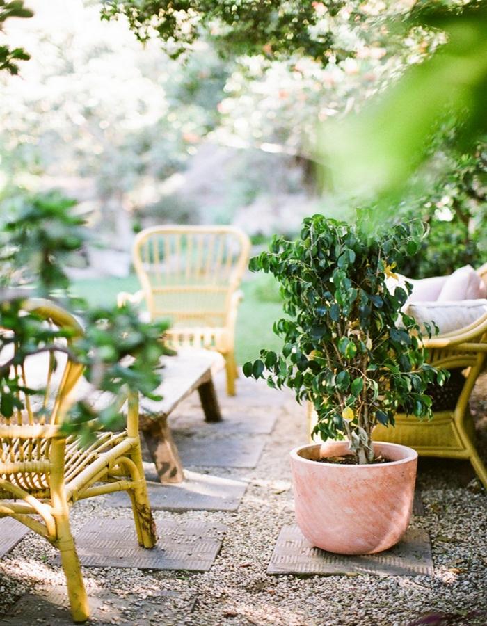 Lovely Deco Un Petit Salon De Jardin En Rotin