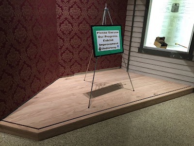 Sign and new exhibit space at Drake Well Museum