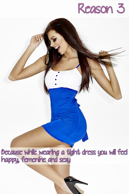 Because while wearing a tight dress you will feel happy, female and sexy.