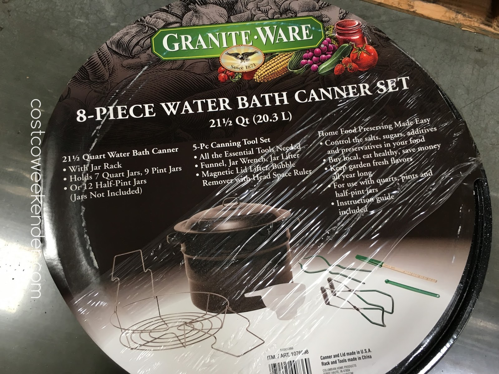 Granite Ware 8 Piece Water Bath Canner Set With Rack And