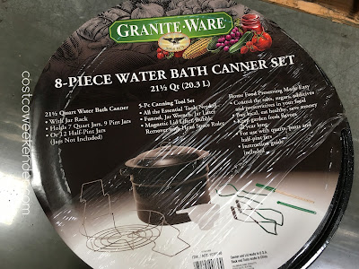 Costco 1076998 - Granite-Ware Water Bath Canner Set - great to make jams as gifts for friends or to sell at farmer's markets