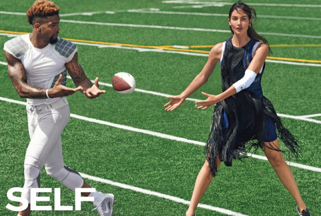 Lily Aldridge models sporty chic fashion for Self Magazine July 2015