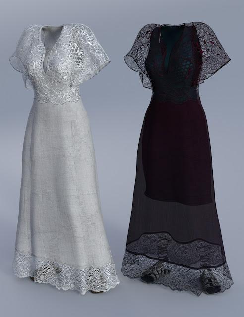 Summer Maxi Dress for Genesis 3 Female
