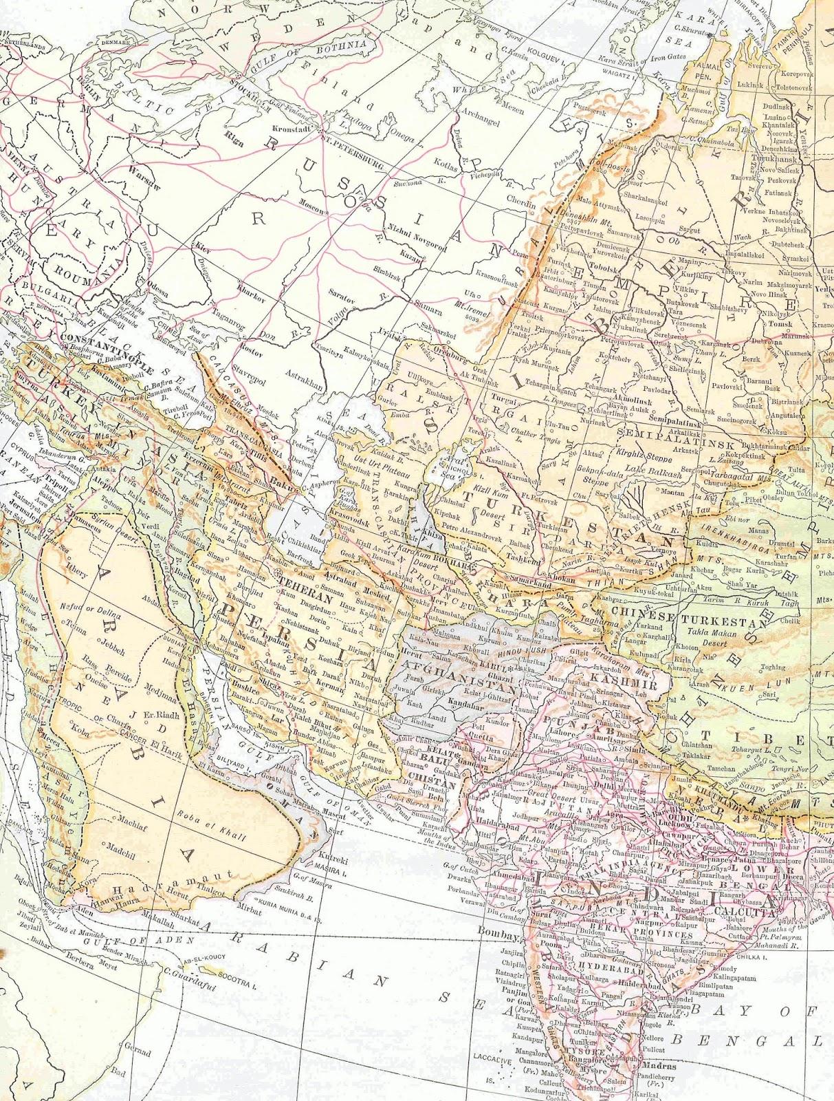 Antique Images: Free Map Clip Art: Vintage Map of Middle ...