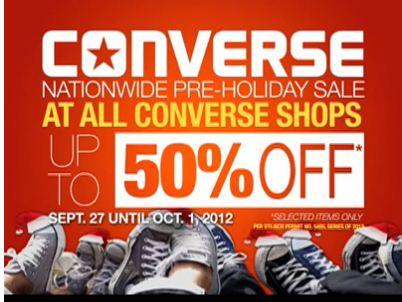 Manila Shopper Converse Pre Holiday Sale 2012