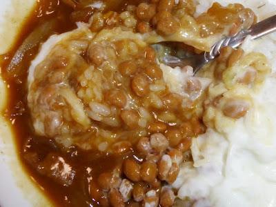 玉ねぎヨーグルト納豆カレー