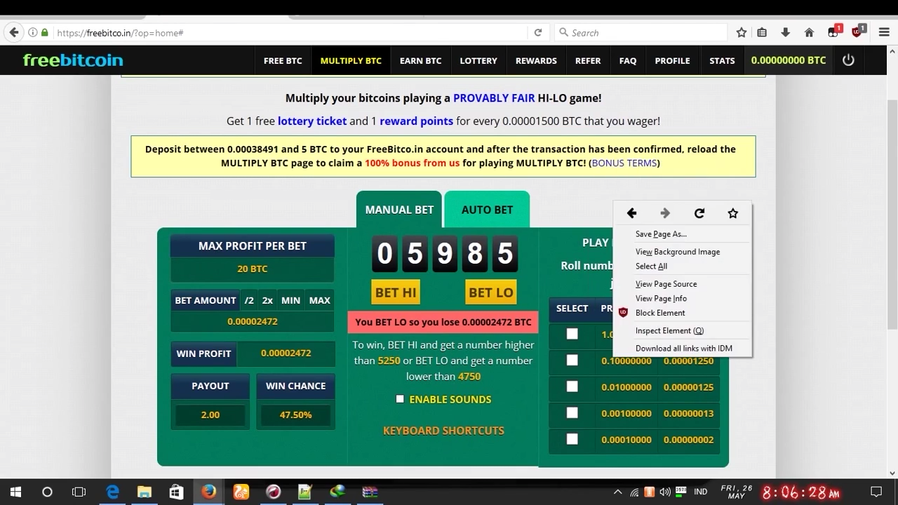 Freebitco in latest autobet script free download - Free Bitcoins
