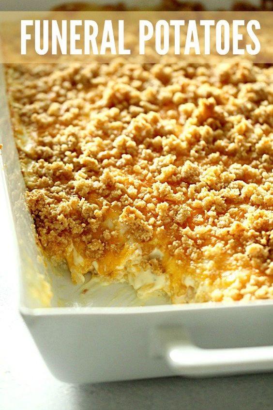 Cheesy Hashbrown Potato Casserole {Funeral Potatoes}