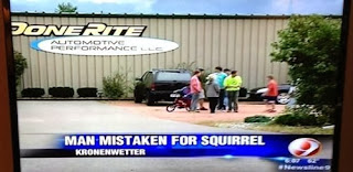 kronenwetter man mistaken for squirrel news tv funny fail