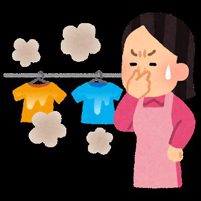 生乾きの洗濯物のイラスト