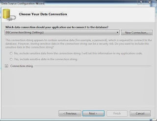 Data Connection and create connection string.
