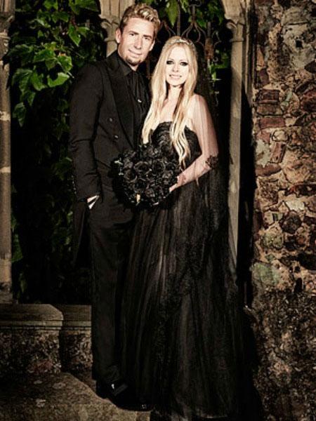 Avril Lavigne e noivo foto do casamento