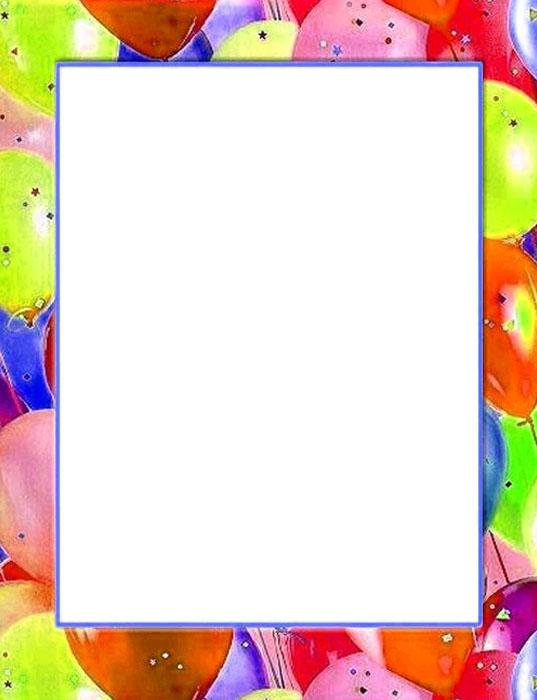 Bordes Decorativos: Bordes decorativos de Cumpleaños para imprimir