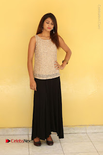 Tollywood Upcoming Actress Arthi Stills in Black Skirt at Plus 1 Movie Trailer Launch  0123.JPG