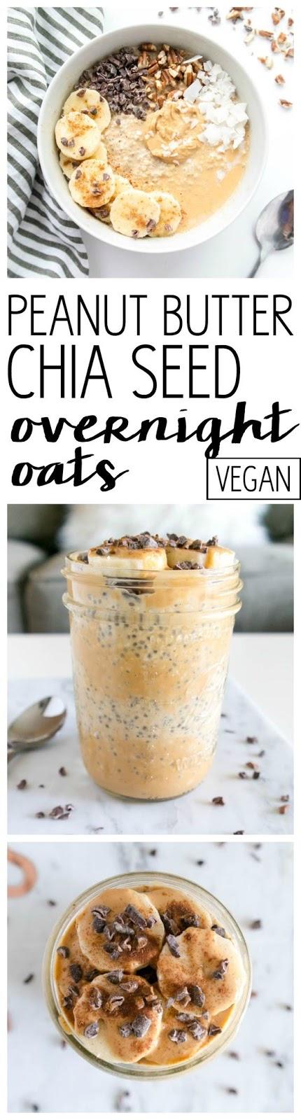 peanut butter chia overnight oats