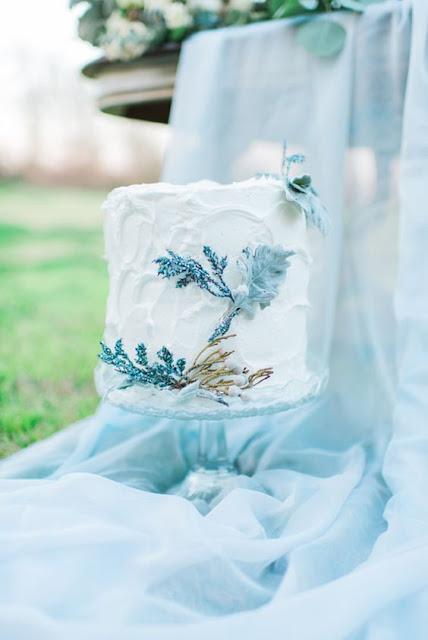 tarta boda azul serenity