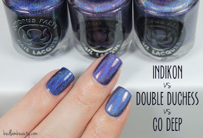 Octopus Party Nail Lacquer Indikon vs Go Deep vs  Double Duchess
