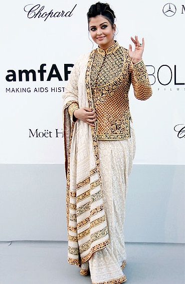 Aishwarya Rai in variation of Gujarati sarees