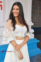 Telugu Actress Amyra Dastur Stills in White Skirt and Blouse at Anandi Indira Production LLP Production no 1 Opening  0066.JPG