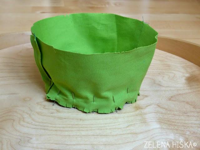 sešij ljubek otroški klobuk