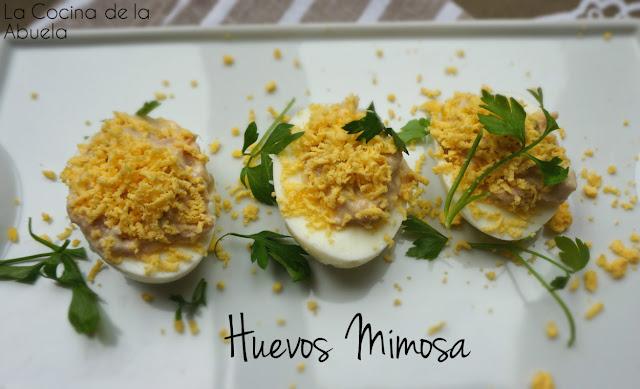 Huevos mimosa receta sencilla ingredientes plato