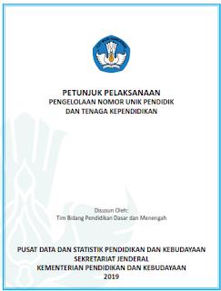 juknis pengelolaan NUPTK Terbaru Tahun 2019