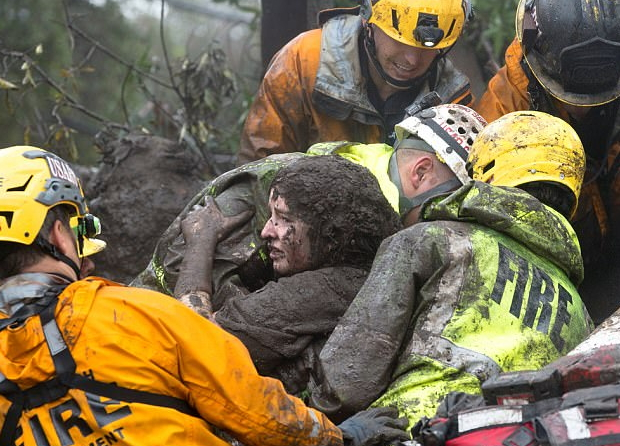 girl pulled out alive california mudslides