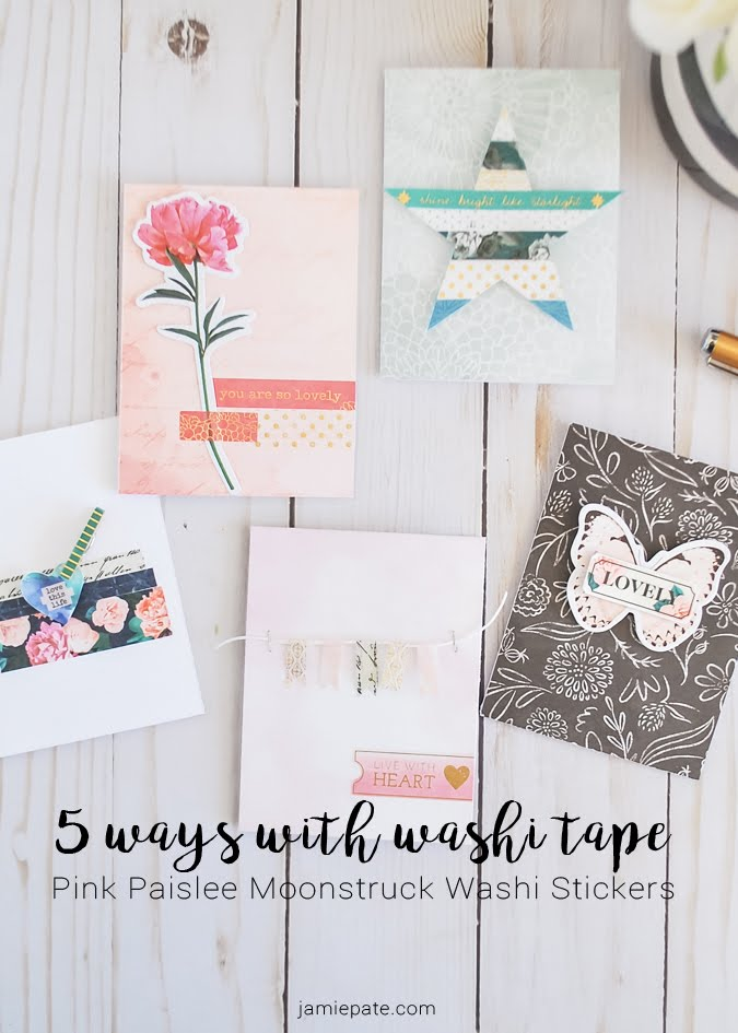 5 Ways with Pink Paislee Washi by Jamie Pate  |  @jamiepate for @pinkpaislee