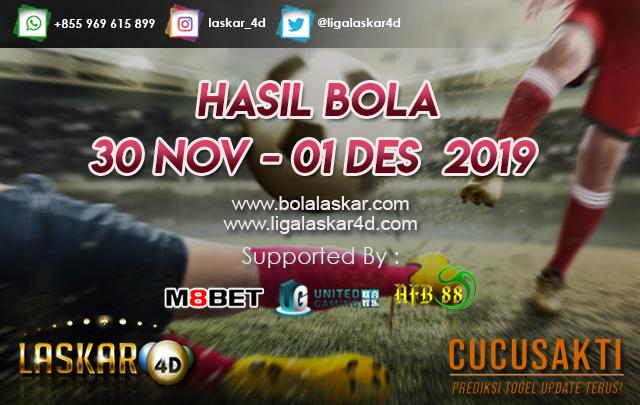 HASIL BOLA JITU TANGGAL 30 Nov – 01 Des  2019