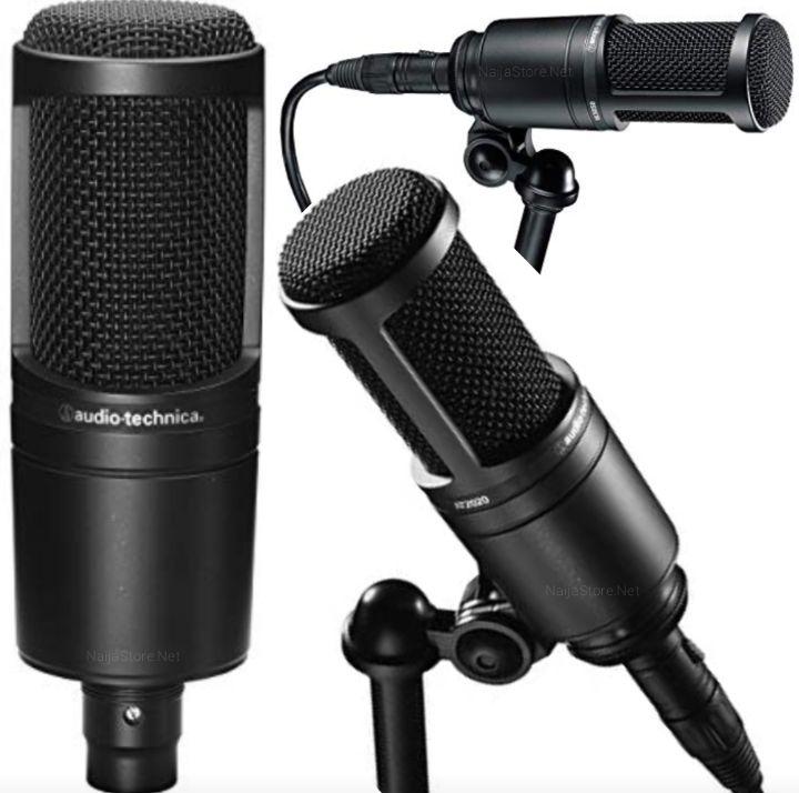 Audio-Technica Studio Mic - AT2020 Condenser Microphone for Audio-Sound Recordings