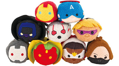 The Avengers Tsum Tsum Marvel Plush Series 2 by Disney – Iron Man, Captain America, Winter Soldier, Black Panther, The Falcon, Ant-Man, Hawkeye, The Vision & War Machine