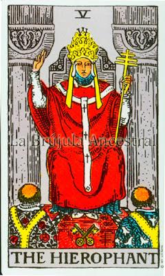 El Papa en el Tarot de Rider Waite