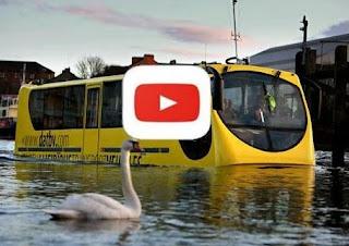 عصر التكنولوجيا ، بالفيديو شاهد حافلة برمائية Amphibious bus