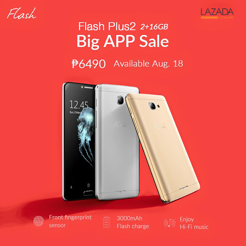 Flash Plus 2 With 2 GB RAM Will Be On Sale At Lazada For 6490 Pesos Only!