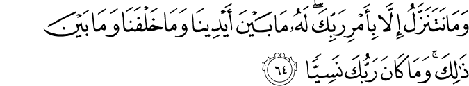 Surat Maryam Ayat 64