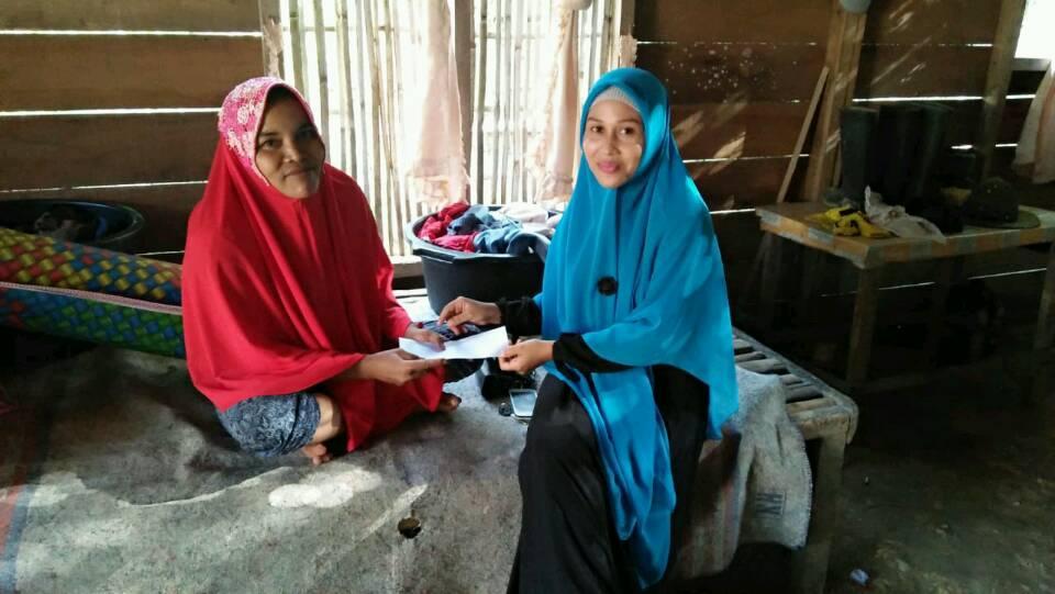 Lembaga Peduli Dhuafa Aceh Timur Kunjungi dan Santuni Ibu Jamilah Penderita Kanker,