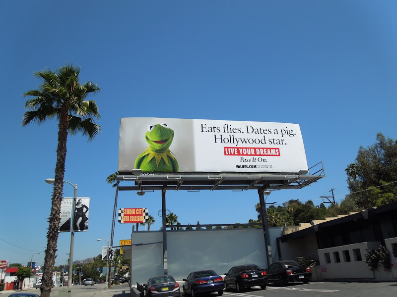 Kermit Frog Live your dreams billboard