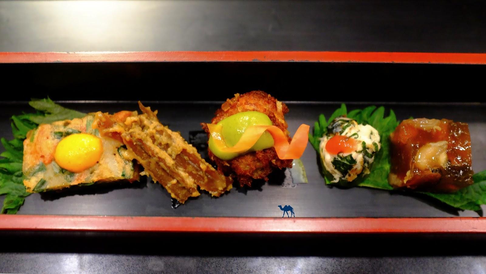 Le Chameau Bleu - Petites bouchées du restaurant gastronomique Guilo Guilo