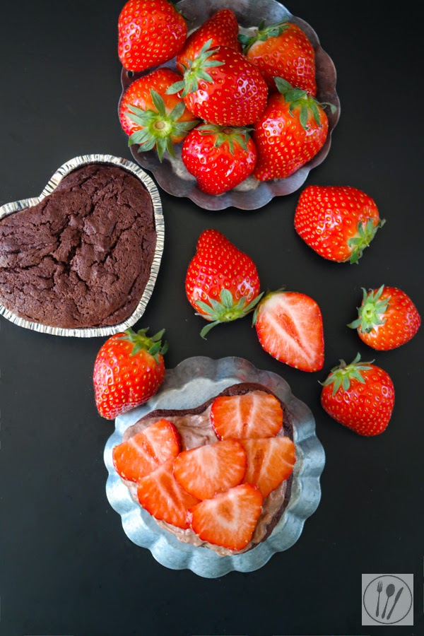 Muttertagstorte mit Erdbeeren