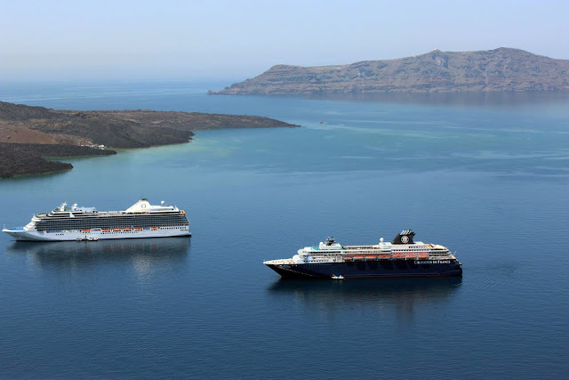 Greece, Santorini, Travel, coast, cruise, big, volcano