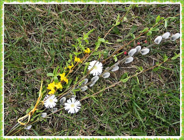 bazie, quillingowe kwiaty, wiosna, święta