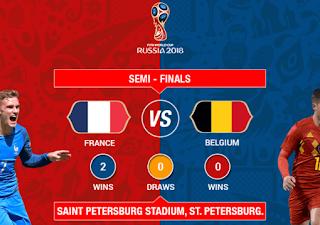 أهداف مباراة فرنسا و بلجيكا بث مباشر اليوم نصف نهائي كأس العالم بلجيكا فرنسا مباشر