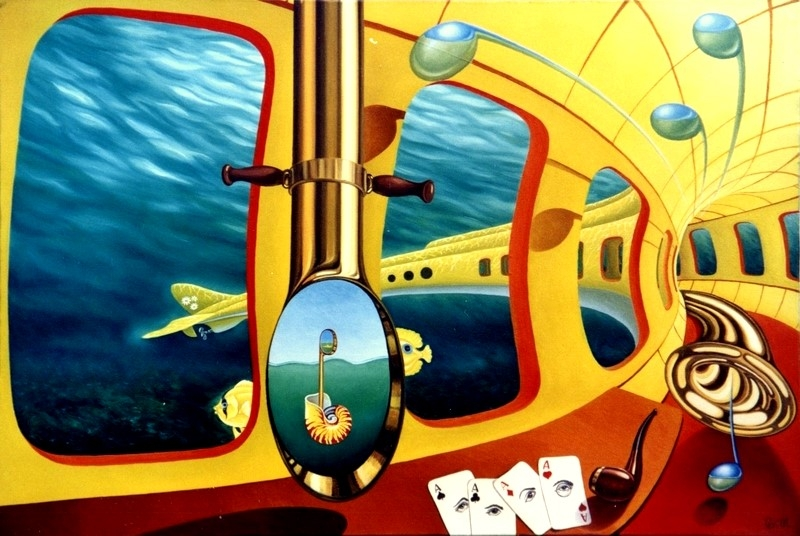 25-Yellow-Submarine-Gyuri-Lohmuller-Surreal-Oil-Paintings-full-of-Meaning-www-designstack-co