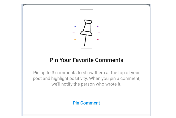 Pin Instagram Favorite Comments