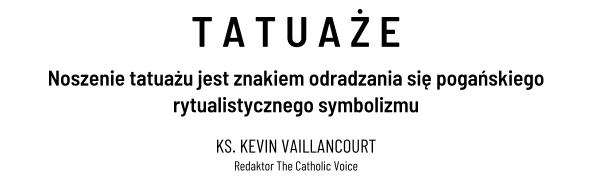 Rzymski Katolik Noszenie Tatuażu Jest Znakiem Odradzania