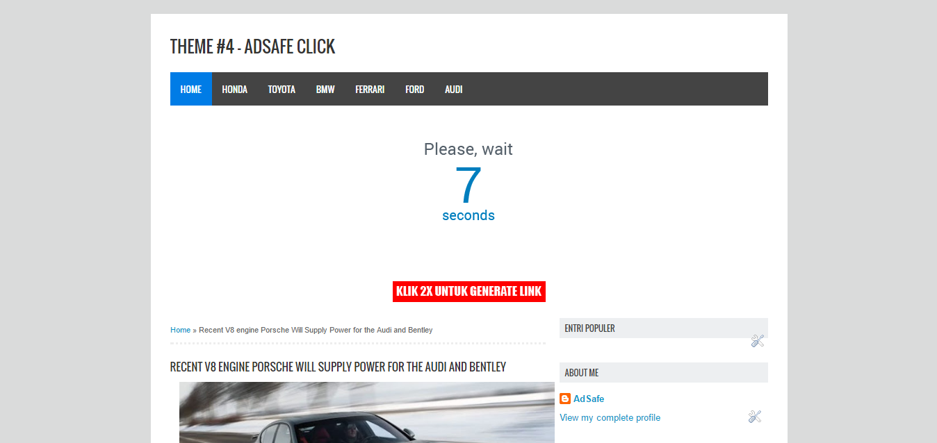 High CTR Theme - AdSafe Click