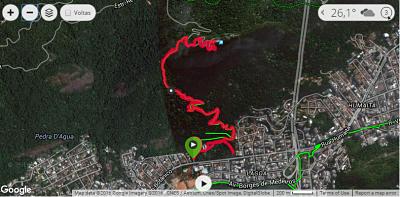 Trajeto Trilha Parque Lage Corcovado