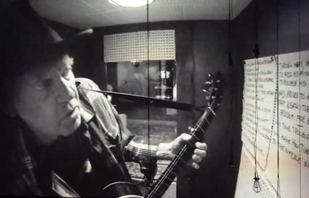 Neil Young in der Booth