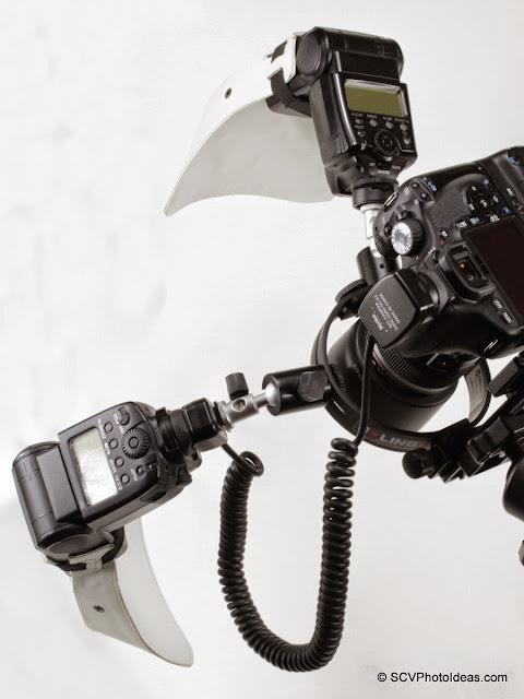 SCV Macro Flash Bracket on camera overview