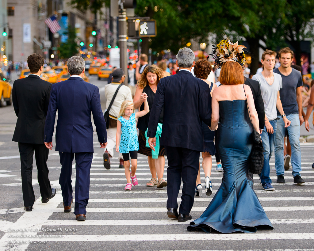 a photo of a lady in a mermaid dress in new york city